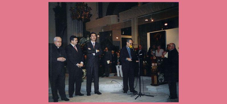 Acto inaugural de la exposición «La Huella y la Senda», Catedral de Santa Ana, Las Palmas de Gran Canaria, 30 de enero de 2004.