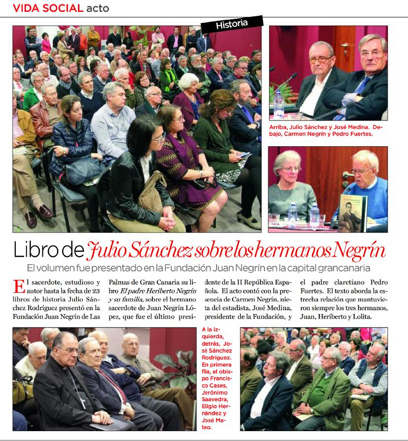 Canarias 7 Libro Hermanos negrin