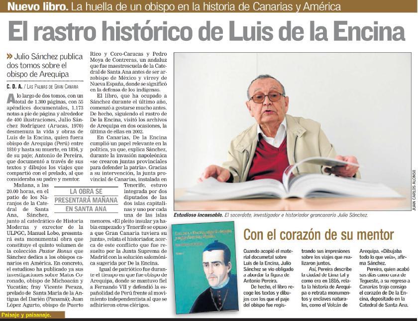 Luis de la Encina,Obispo de Arequipa